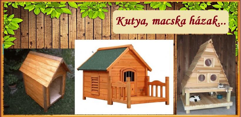 Kutya és macska házak...