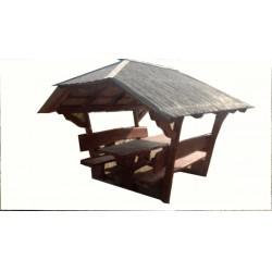 Kerti kiülő szaletli akác és hársfából (Burma) GRILLEZÉS ÉPÍTMÉNYEI, SZALETLIK ÉS FILAGÓRIÁK.